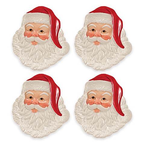 Buy fitz and floyd letters to santa canap plates set of for Fitz and floyd canape plate