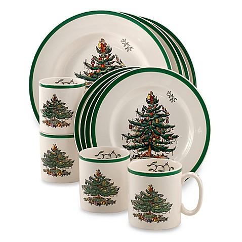 christmas tree 12piece dinnerware set