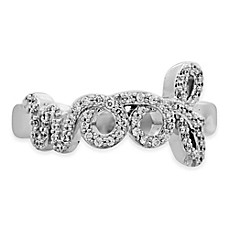 image of ASPCA® Tender Voices Sterling Silver .21 cttw Diamond Ladies'