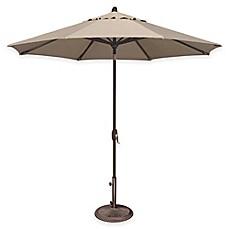Image Of SimplyShade® Lanai 9 Foot Octagon Auto Tilt Aluminum Market  Umbrella