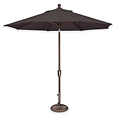 image of simplyshade catalina 9foot push button tilt octagon solefin umbrella - Patio Umbrella Base