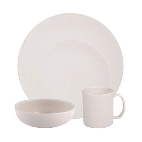 Artisanal Kitchen Supplyu0026reg; Edge Dinnerware Collection in Linen  sc 1 st  Bed Bath u0026 Beyond & Artisanal Kitchen Supply® Edge Dinnerware Collection in Linen - Bed ...