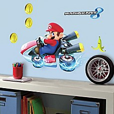 image of York Wallcoverings Mario Kart 8 Peel-and-Stick Giant Wall Decals (Set of 7)
