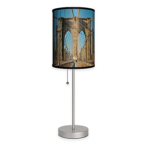 bridge color table lamp with matte silver base from bed bath beyond. Black Bedroom Furniture Sets. Home Design Ideas