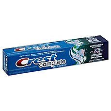 image of Crest® Complete 5.8 oz. Whitening + Deep Clean Effervescent Toothpaste in Mint