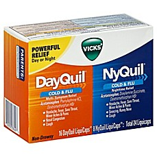 image of Vicks® 24-Count Dayquil And Nyquil Combo Pack Cold and Flu Relief Liquicaps