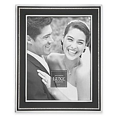 image of Reed & Barton® Luxe Collection Facets Picture Frame in Black/Chrome