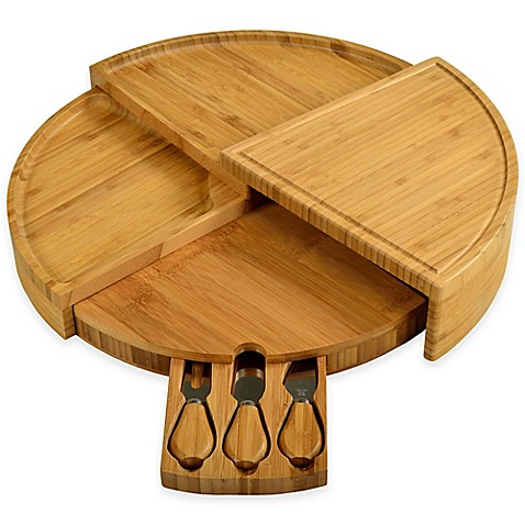 image of picnic at ascot 4piece vienna bamboo serving set