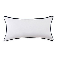 image of Vince Camuto® Lyon Signature Bolster Throw Pillow in White