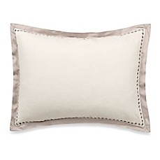 image of Vera Wang Home Bamboo Leaves Eyelet Breakfast Throw Pillow in Wheat