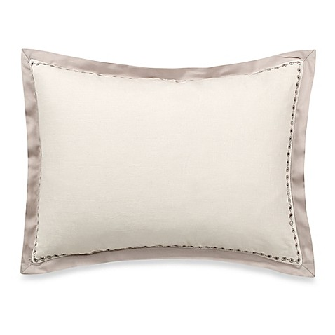 Vera Wang Home Bamboo Leaves Eyelet Breakfast Throw Pillow in Wheat