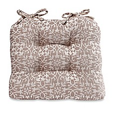 image of garden trelis chair pad in tan - Chair Pads