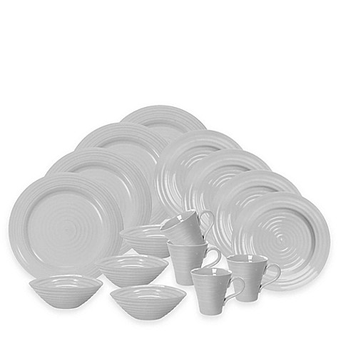 Sophie Conran for Portmeirion® 16-Piece Dinnerware Set in Grey - Bed ...