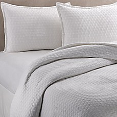 image of Vera Wang™ Puckered Diamond Matelassé Coverlet