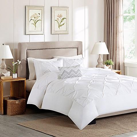 buy madison park celine king california king duvet cover set in white from bed bath beyond. Black Bedroom Furniture Sets. Home Design Ideas
