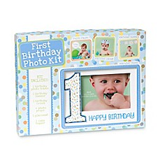 image of CR Gibson Baby's First Birthday Photo Prop Kit in Blue