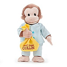 image of Curious George in Pajamas Plush Stuffed Animal