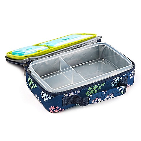 fit and fresh bento lunch box kit in flower print bed bath beyond. Black Bedroom Furniture Sets. Home Design Ideas