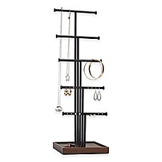 image of Umbra® Gemma 5-Tier Jewelry Stand in Natural/Black