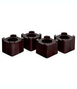 Elevadores para cama de madera en espresso, Set de 4