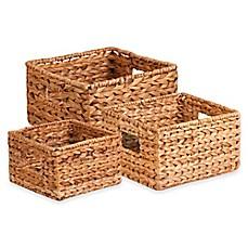 image of honey can do 3 piece banana leaf nesting basket set - Decorative Baskets