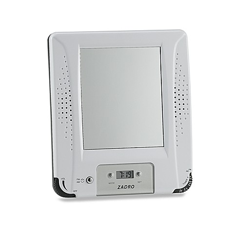 Am Fm Shower Radio With Fog Free Mirror And Digital Clock