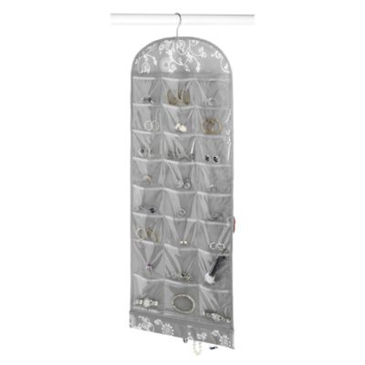 Hanging Jewelry Organizer in Grey Swirl Bed Bath Beyond