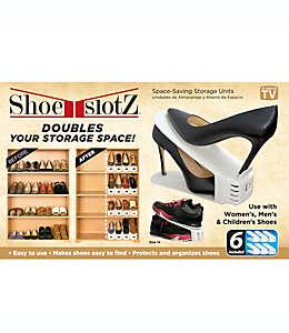 Organizador de plástico Shoe Slotz™ para zapatos color marfil, Set de 6