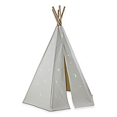 image of Dexton 6-Foot Great Plains Play Teepee with Glow-in-the-Dark Stars