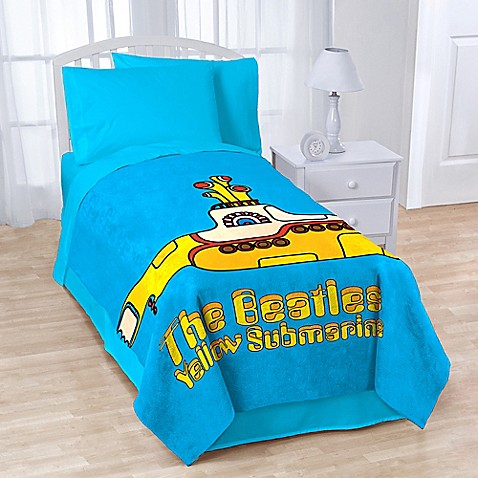 Beatles Quot Yellow Submarine Quot Coral Fleece Throw Blanket
