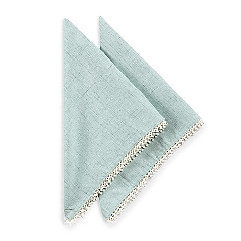 Lenox® French Perle Solid Napkins in Ice Blue (Set of 2)