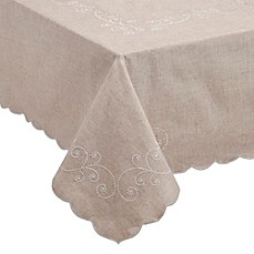 image of Lenox® French Perle Tablecloth in Linen