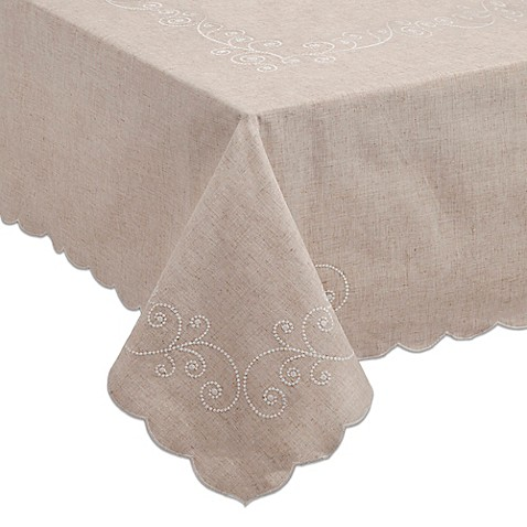 Attractive Lenoxu0026reg; French Perle Tablecloth In Linen
