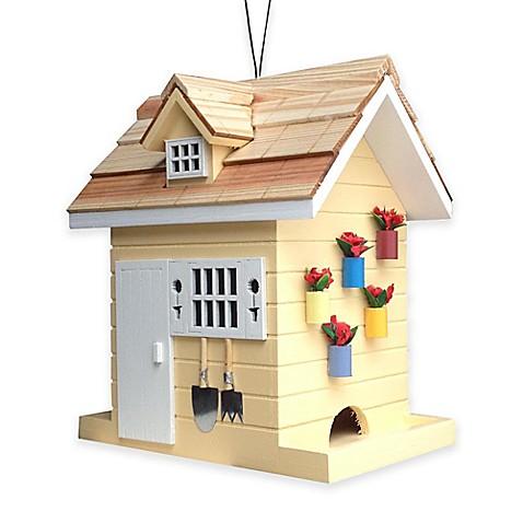 Buy Home Bazaar Potting Shed Bird Feeder In Yellow From