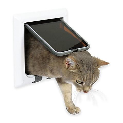 4-Way Cat Door In White  sc 1 st  Bed Bath \u0026 Beyond & Cat Doors In White - Bed Bath \u0026 Beyond