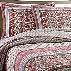 image of kadiri cotton voile quilt set in rose