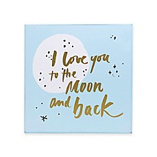 image of About Face Designs I Love You to the Moon and Back Wall Plaque