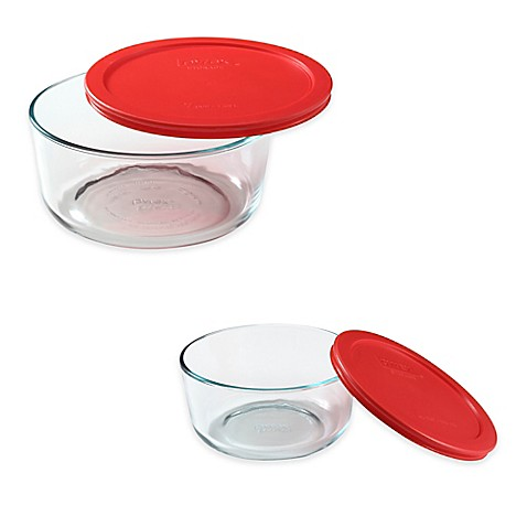 Pyrex 174 Storage Plus Round Glass Bowl With Cover Bed Bath