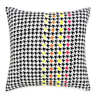 image of SPUN™ by Welspun Threads With a Soul Houndstooth Handcrafted Throw Pillow
