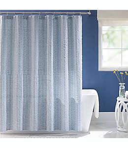 Cortina para baño Keeco®  texturizada en tonos azules