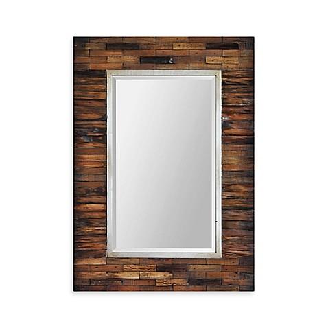 ren wil pretoria 30 inch x 42 inch rectangular mirror in brown bed bath beyond. Black Bedroom Furniture Sets. Home Design Ideas