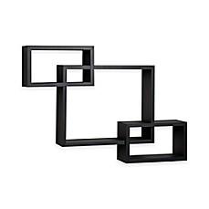 image of danya b cubbies wall shelf in black