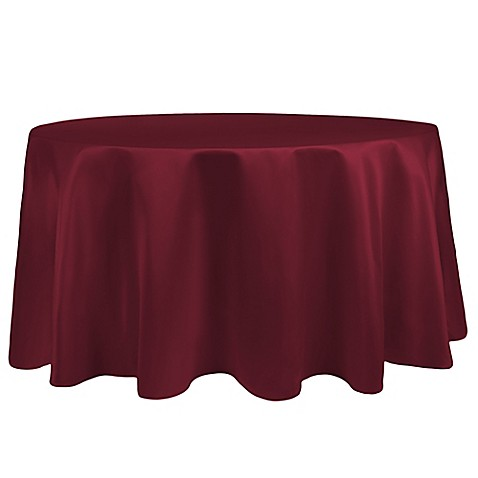 Buy Duchess 90 Inch Round Tablecloth In Magenta From Bed