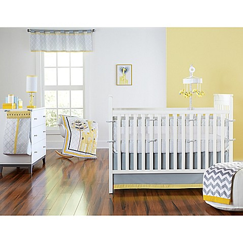happy chic baby by jonathan adler safari giraffe crib bedding collection buybuy baby. Black Bedroom Furniture Sets. Home Design Ideas