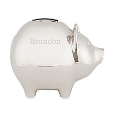 image of Silver Piggy Bank for Him