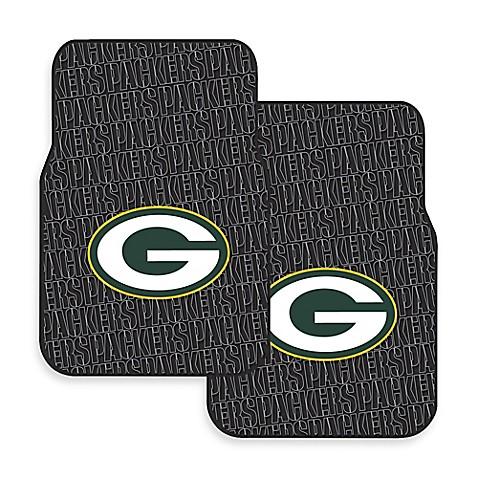 Nfl Green Bay Packers Rubber Car Mats Set Of 2