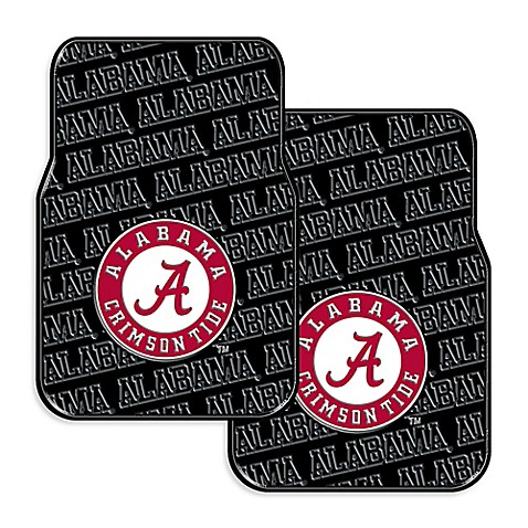 Buy University Of Alabama Rubber Car Floor Mats Set Of 2