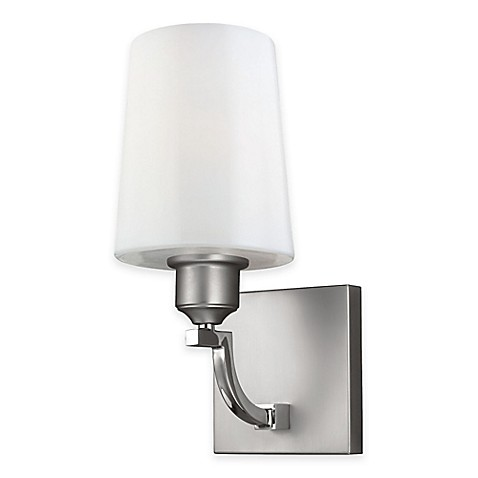 Buy Feiss Preakness 1 Light Bath Wall Sconce In Satin Polished Nickel From Bed Bath Beyond