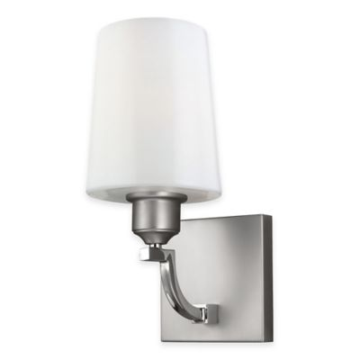 Buy Feiss Preakness 1-Light Bath Wall Sconce in Satin/Polished Nickel from Bed Bath & Beyond
