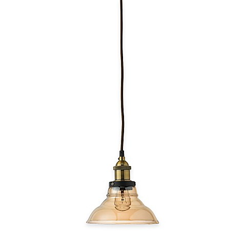 Buy jamie young factory bell 1 light pendant in brass gold for Jamie young lighting pendant